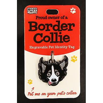 Wags & Whiskers Pet Identity Tag - Border Collie