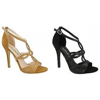 Anne Michelle Womens/Ladies Faux Snake Skin High Heels