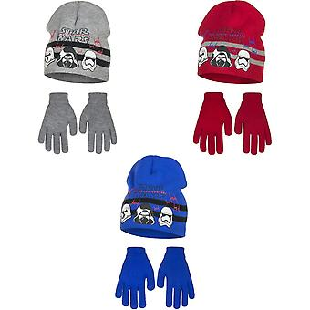 Star Wars The Force Awakens Childrens Boys Helmets Hat And Gloves Set