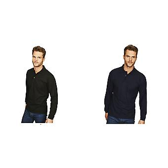 Casual Classic Mens Long Sleeve Polo