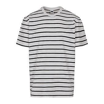 T-חולצת גברים עירוניים קלאסיקה פס בסיסי מנופחים