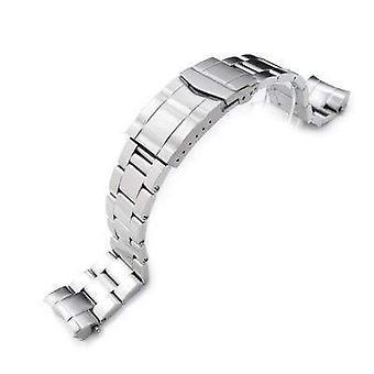 Strapcode pulseira de relógio 20mm super ostra pulseira para seiko sumo sbdc001, sbdc003, sbdc005, sbdc031, sbdc033, fecho submarino sólido