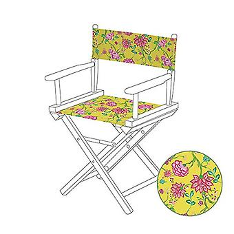 Chintz Yellow Directors Chair Replacement Water Resistant Canvas Cover Garden