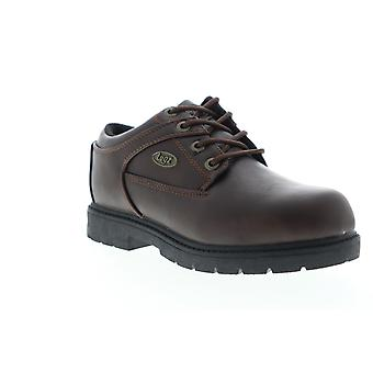 Lugz Savoy SR  Mens Brown Leather Casual Lace Up Oxfords Shoes