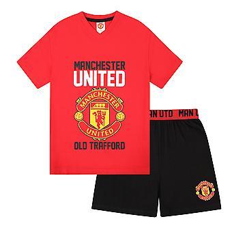 Manchester United FC Official Football Gift Boys Korte Pyjama
