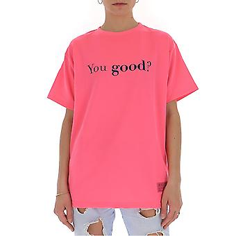 Irène Igtyg006525 Femmes-apos;s Pink Cotton T-shirt