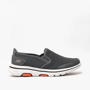 Skechers Go Walk 5 Apprize Mens Slip On Trainers Charcoal
