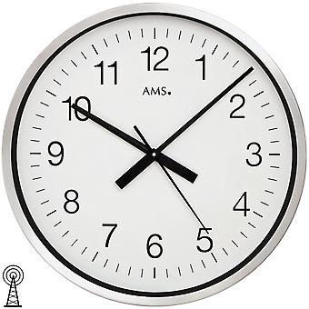 AMS 5949 Wall clock Radio radio wall clock analog round extra large 60 cm