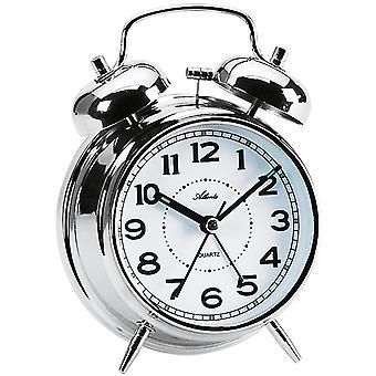 Atlanta 1646/19 ceas cu alarmă cuarț analog Bell ceas cu alarmă dublă Bell ceas cu alarmă Silver