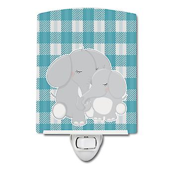 Carolines Treasures  BB8589CNL Elephants Ceramic Night Light