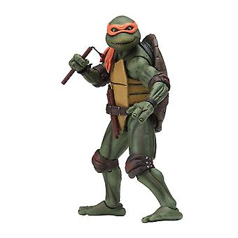 "NECA Teenage Mutant Ninja Turtles Michelangelo 1990 Movie 7"" Action Figure"