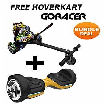G PRO Gold Segway med en Racer Hip Hop Hovercart