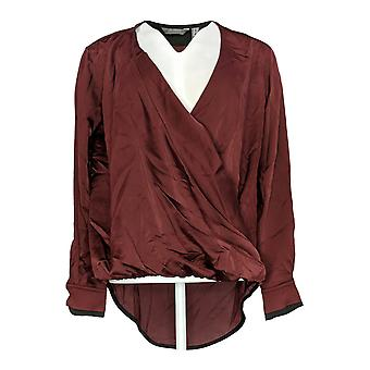 Lisa Rinna Collection Women's Top Cross-Over V-Neck Blouse Purple A344801