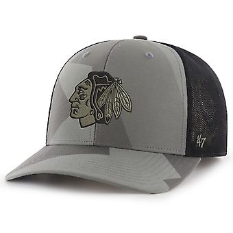 47 Brand Mesh Snapback Cap - COUNTER Chicago Blackhawks camo