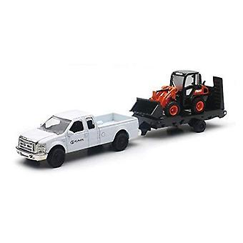 R630 kotouče Kubota a Ford Pickup z vozu s přívěsem
