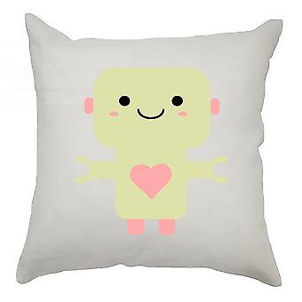 Robot Cushion Cover 40cm x 40cm - Yellow Robot