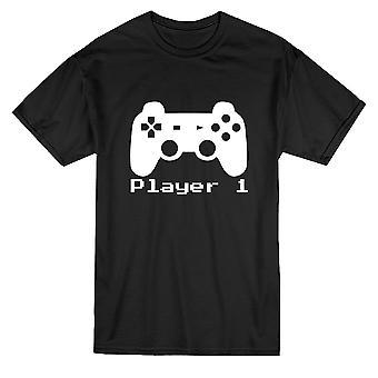 Player 1 Videogame Matching Dad Son Men's T-shirt