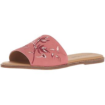 Lucky Brand Womens Davin Leather Open Toe Casual Slide Sandals