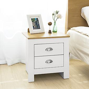 2 Drawers Bedside Table Night Table Stand Lamp Table End Table Side Table,SoBuy? FBT86-W
