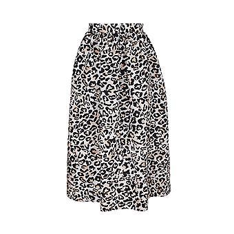 Ermanno Scervino Gn25tam24999 Women's Leopard Polyester Skirt