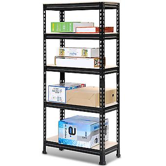 Heavy Duty 5 Tier Garage Shelving Units Metal Storage Shelves Shed Utility Rack,180cm x 90cm x 40cm,175KG Per Shelf