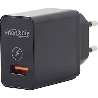 Energenie Pure-Power EG-UQC3-01 USB charger Mains socket Max. output current 3000 mA 1 x USB 3.2 Gen 1 A slot Qualcomm Quick Charge 3.0
