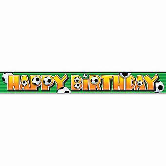 מפלגה ייחודית יום הולדת שמח כדורגל רדיד באנר 12ft