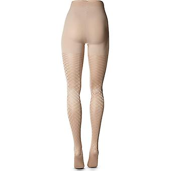 Berkshire Women's The Easy On! Framed Diamond Plus Size Tights, Pale Gold, 1x...