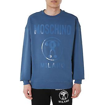 Moschino 170470270310 Men's Blue Cotton Sweatshirt