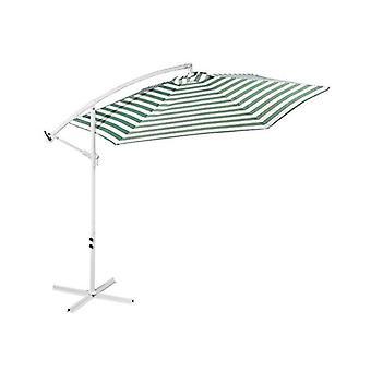 Striped Outdoor Umbrella For Garden Patio Green And White Stripe