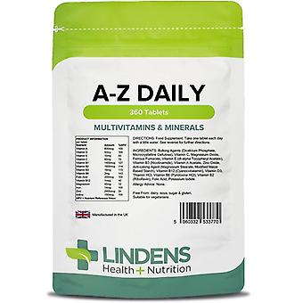 Lindens Multivitamins A-Z Daily Tablets 360 (3770)