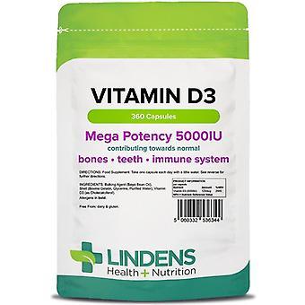 Lindens D3-vitamiini 5000iu Kapselit 360 (6344)