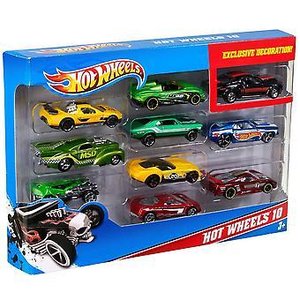 Hot Wheels bil pakke med 10