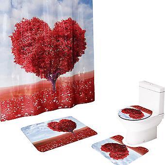 YANGFAN Beautiful Love Mangrove Prysznic Kurtyna 4-szt Zestaw