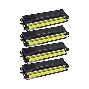 RudyTwos 4x korvaaminen Brother TN329Y väri aine yksikkö keltainen (ExtraHighYield) yhteensopiva HL-L9200CDWT, L9200CDW, MFC-L9550CDW (NA), HL-L8350CDW, L9200CDWT, DCP-L8450CDW, MFC L8850CDW, L9550CDWT (E