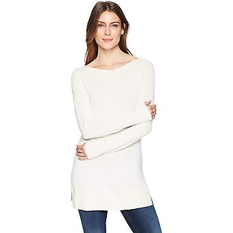 Pull tunique Boatneck Alouette & Ro Women's, Blanc d'hiver, Petit