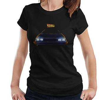 Back To The Future Logo And Delorean Women's T-Shirt