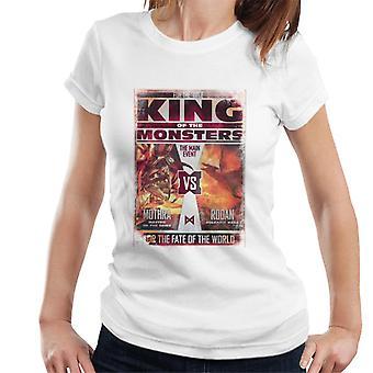 Godzilla Mothra Vs Rodan Women's T-Shirt