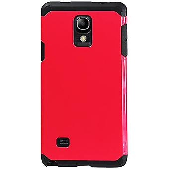 Reiko Dual Layer Cover for Samsung Galaxy Note 4 - Hot Pink