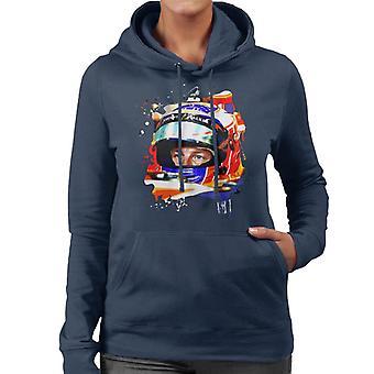 Motorsport Images Jenson Button McLaren MCL32 Honda Monaco Helmet Shot Women's Hooded Sweatshirt