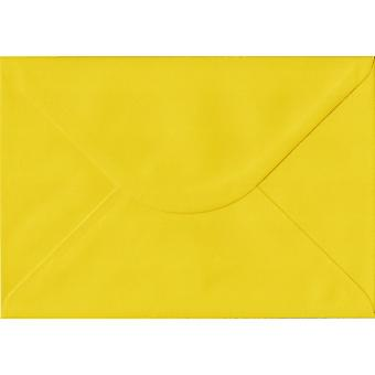 Daffodil Yellow Gummed C5/A5 Coloured Yellow Envelopes. 100gsm FSC Sustainable Paper. 162mm x 229mm. Banker Style Envelope.
