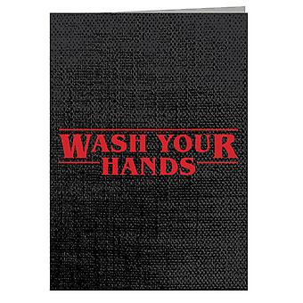 Wash Your Hands Stranger Things Font Greeting Card