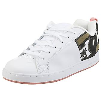 DC Shoes Court Graffik Se Womens Skate Trainers in White Camoflage