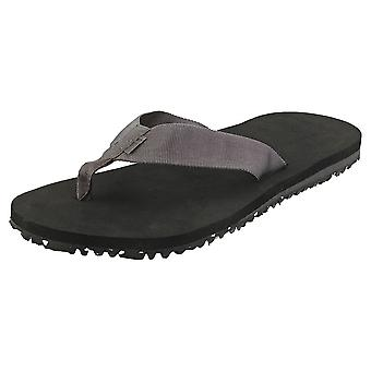 Toms Lagoon Mens Beach Sandals in Grey Black