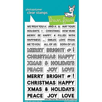 Lawn Fawn Offset Sayings: Christmas Clear Stamps