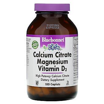 Bluebonnet Nutrition, Calcium Citrate Magnesium Vitamin D3, 180 Caplets