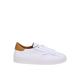 D.a.t.e. M331accawo Men's White Leather Sneakers