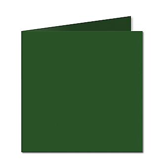Deep Green. 123mm x 246mm. Small Square. 235gsm Folded Card Blank.