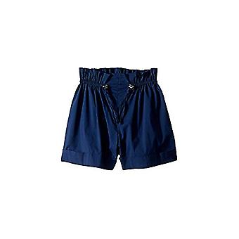 HABITUAL girl Girl's Brenda Paperbag Cuffed Shorts (Big Kids) Navy 14