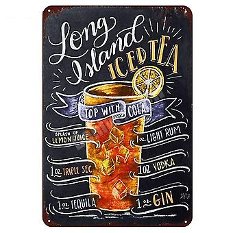 Hot Cocoa Sweet Tea Time Vintage Metal Tin Signs For Wall Art Painting - Wall